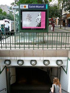 Métro Saint-Marcel, Paris 13e, M5 Metro Subway, Paris Metro, Paris City, Metro Station, Chengdu, City Lights, Marcel, Restoration, Saints