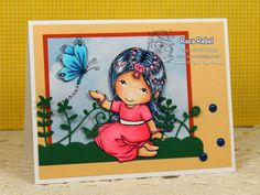 Your Next Stamp Challenge project/card by  Ruza using Mina with Butterfly  Gumdrops