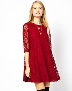 lace swing dress - cute for New Year's Eve