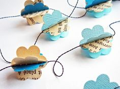 march, with kites Paper clouds garland, easy beautiful Diy Paper, Paper Art, Paper Crafts, Tissue Paper, Origami, Diy Projects To Try, Craft Projects, Paper Clouds, Diy And Crafts