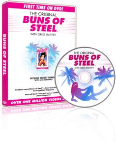 """The original """"Buns of Steel"""" video (now on DVD) is still the BEST butt, hip, and thigh busting work out that I have ever done! Be prepared...it is NOT easy, but it is SO worth the work. Bonus! Most of the work is done on the floor, so it's low impact...easy on the knees."""