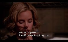 """""""When it's something that really matters, they fight."""" 