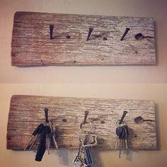 Rustic key hook