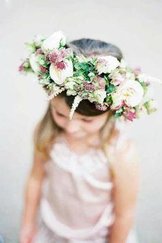 Flower hair for flower girl