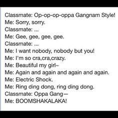 #kpop ROFL awesome XD gangnam style is so not the epitome of k-pop!