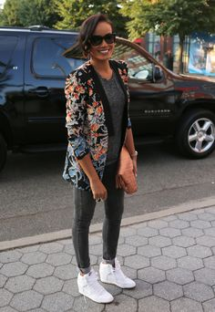Selita Ebanks.....loving the Nike Sky High Wedge Sneakers with this ensemble!