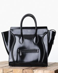 LUGGAGE SMALL IN SPAZZOLATO CALFSKIN BLACK, CÉLINE FALL 2013
