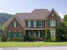 pictures of metal roofs on brick houses - Google Search