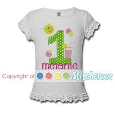 Sunshine and Lemonade Birthday Shirt or onesie