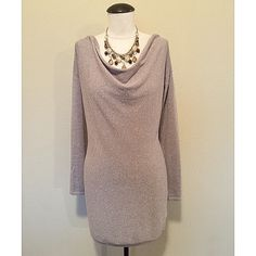 Drape Neck (Champagne) Sweater Tunic sz XS NWT White House Black Market Drape Neck Long Sleeve (Shimmer Champagne) Sweater Tunic sz XS NWT▪It's brand new, with tags, never worn. The necklace is NOT included, sold separately.                                                                         NO TRADES NO PAYPAL White House Black Market Tops Tunics
