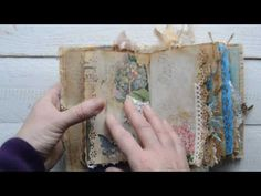 "Junk journal "" Touch of blue "". - YouTube"