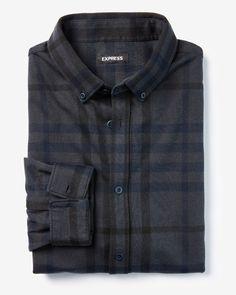 Slim Plaid Soft Shirt