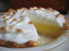 Lemon pie (receta super facil, y riquisima) Sugar Free Meringue Recipe, Meringue Pie, Sugar Free Recipes, Lemon Merengue Pie, Lemon Pie Receta, Lemon Curd, Amish Recipes, Pie Recipes, Easy Recipes