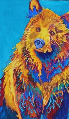Karen Ahlgren. Bear painting. Watercolor.