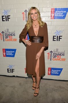Heidi Klum Photos Stars At The Hollywood Stands Up To Cancer Event Zimbio