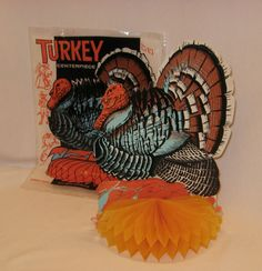 Vintage Beistle Honey Comb Turkey