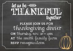 Thanksgiving Invitation Freebie   Free Printable