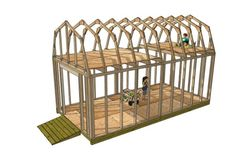 This is a gambrel style roof storage shed with lots of space up in the loft area for adding a nice little playhouse for your kids. Steps can be added on the outside and the inside walled off for safety. (Shed Plans With Loft) 10x20 Shed, Roof Storage, Storage Sheds, Outdoor Storage, Outside Storage Shed, Shed With Loft, Diy Shed Plans, Garage Plans, 10x12 Shed Plans
