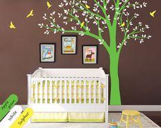 Pépinière arbre sticker mural sticker chambre un décor moderne avec oiseaux en vol, murale - 001 Sticker Mural chambre d'enfant mignon avec arbre créatif, des feuilles et les oiseaux. Ce décalque de chambre bébé gracieuse est également disponible dans d'autres couleurs et en sens inverse.