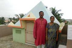 Sri Ramana Pyramid Meditation Center,year of construction : 2010 size : 8ft x 8ft (roof top) | capapcity : 15 persons cost incurred :  40,000  technical support : Madhava & Lakshimi contact : K Srinivasarao & Prameelarani mobile : +91 90002 73274, +91 99496 82589 address : D.no 27-3-113/2, Official colony, Srinagar, Gajuwaka http://www.pyramidseverywhere.org/pyramids-directory/pyramids-in-andhra-pradesh/coastal-andhra/visakhapatnam-district