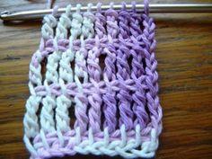 Triple Crochet Tunisian Simple Stitch ༺✿ƬⱤღ  http://www.pinterest.com/teretegui/✿༻