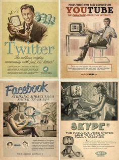The internet age as vintage ads