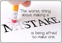 The worst thing about making a mistake is being afraid of making one. Use this poster in your classroom!