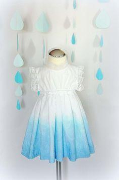 Sukienka dziecięca cieniowana, ombre r.62-80 w Monika Magdalena  na DaWanda.com