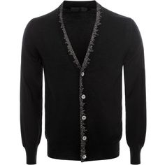 Embroidered V Neck Cardigan Alexander McQueen | Cardigan | Knitwear |
