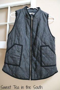 November 2015 Stitch Fix Shara Herringbone Vest by 41Hawthorn | Sweet Tea in the South