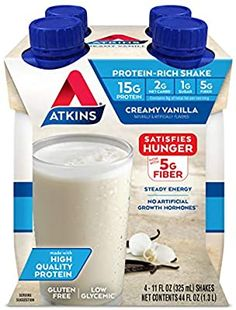 Amazon.com: Atkins Gluten Free Protein-Rich Shake, Creamy Vanilla, 4 Count: Prime Pantry Berry Smoothie Recipe, Smoothie Recipes, Chili Bowl Recipe, Salsa Recipe, Chicken Strip Recipes, Chicken Strips, Sesame Seeds Recipes, Pumpkin Ice Cream, Pumpkin Spice