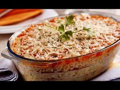 Zapečené mleté maso s těstovinami - | Prostřeno.cz I Love Food, Hummus, Mozzarella, Risotto, Macaroni And Cheese, Cabbage, Recipies, Pasta, Treats