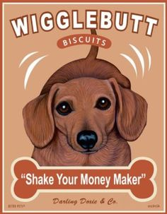 Amazon.com: Retro Pets - Dachshund Art - Wigglebutt Biscuits - 8x10 Art Print from the Treat Hounds Series - Ready to Frame: Home & Kitchen