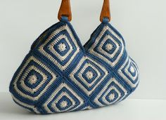 HANDMADE KNITTED BAGS: NzLbags - Summer Bag Afghan Crochet Handbag, Grann...