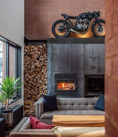 A light well boosts creativity in this cedar-clad home for musicians. When a family of musicians was looking to build a new… Route 66, Autocad, Harley Davidson, Moto Biker, Clad Home, Interiores Design, Room Inspiration, Home Furnishings, New Homes