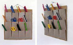 recycler le rouleau de papier toilette, organisations pour les stylos