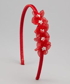 This Red Blossom Headband by Kid's Dream is perfect! #zulilyfinds