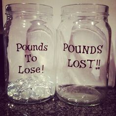 motivational weight loss jars.. love this!