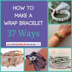 """<a href=""""http://www.allfreejewelrymaking.com/tag/DIY-Wrap-Bracelet"""" target=""""_blank"""">Wrap bracelets</a>are all the rage lately, and there are so many different variations of this jewelry-making trend. From<a href=""""http://www.allfreejewelrymaking.com/Leather-Jewelry/21-Leather-DIY-Jewelry-Tutorials"""" target=""""_blank"""">l..."""
