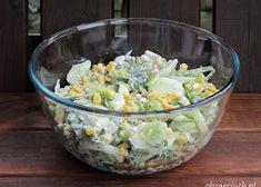 Wiosenna sałatka z brokułem i jajkiem - Obżarciuch Feta, Potato Salad, Grilling, Potatoes, Ethnic Recipes, Crickets, Potato