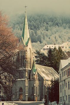 Sandviken church in Bergen, Norway  Been there its Lovely!