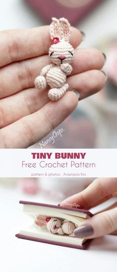Tiny Bunny Free Crochet Pattern Tiny Bunny Free Crochet Pattern Aaaaaw Da Cutsie Wutsie Widdo Bunny I Will Love Him And Squeeze Him And Call Him George This Has Got To Be The Most Adorable Amigurumi Tiny Bunny Free Crochet Pattern Crochet Pattern Free, Crochet Motifs, Crochet Animal Patterns, Crochet Patterns Amigurumi, Crochet Animals, Crochet Dolls, Crochet Stitches, Knitting Patterns, Tutorial Crochet