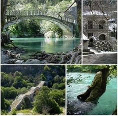 Can not wait to go road tripping down to Giannena Greece. Wonderful Places, Beautiful Places, Amazing Places, Old Bridges, Places In Greece, What A Beautiful World, Italy Spain, Exotic Places, Summer Bucket Lists