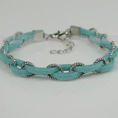 silver and cord bracelets - Google Search