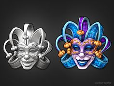 Dribbble - Venetian Mask by Victor Soto