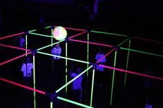 A Black Light Version of 9 Square In the Air