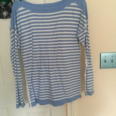 Blue striped sweater Cute and warm Sweaters Crew & Scoop Necks