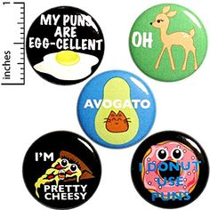 Funny Pun 5 Pack Button Backpack Pins or Magnets Pizza Puns Gift Set Funny Buttons, Cool Buttons, Pizza Puns, Funny Pizza, Funny Food, Funny Puns, Bad Puns, Funny Quotes, Cheesy Puns