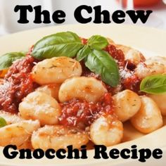 The Chew: Gnocchi Recipe - Gnocchi all'Amatriciana By Mario Batali