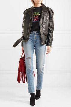 086d620cd7ce Balenciaga - High-rise distressed slim-leg jeans